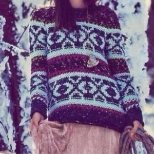 Free People Silver Reed Fair Isle Sweater